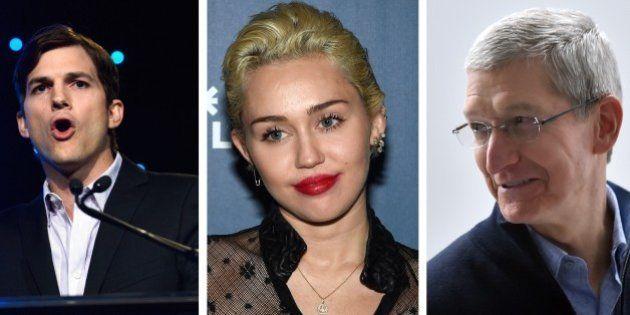 Ashton Kutcher, Tim Cook et Miley Cyrus protestent contre une loi de l'Indiana jugée