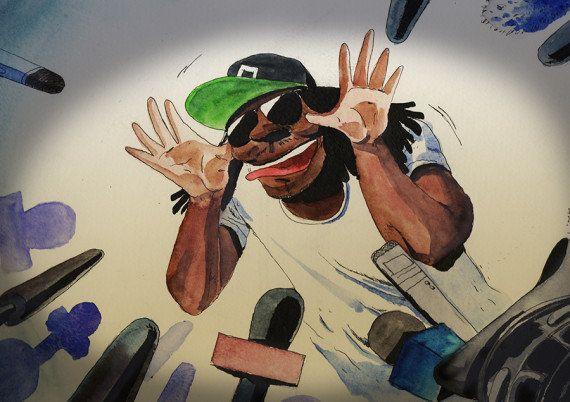 VIDÉO. Super Bowl 2015: avant la finale, le joueur Marshawn Lynch se moque des journalistes, et il adore