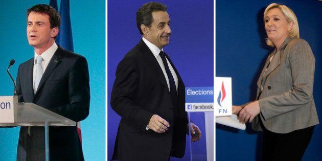 Résultats départementales 2015: Sarkozy, Valls, Le Pen, Mélenchon... Tous se projettent (déjà) sur la