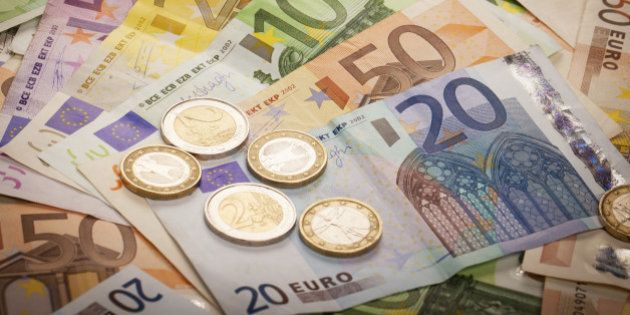 Pile of Euros: 1, 2, 20, 50, 100, 200 and 500