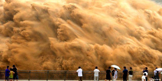 PHOTOS. Fleuve Jaune en Chine : l'incroyable