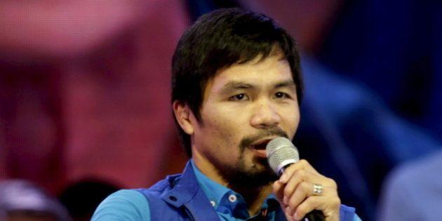 Le boxeur Manny Pacquiao assume ses propos