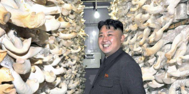 PHOTOS. Kim Jong-Un visite une ferme à champignons en Corée du