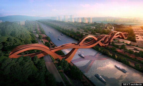 PHOTOS. Un pont inspiré du ruban de Möbius va voir le jour en