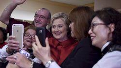 Hillary Clinton remporte de peu le