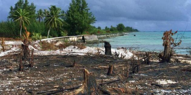François Hollande en Polynésie face à la