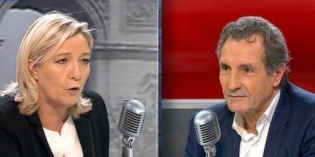 Marine Le Pen s'en prend à Jean-Jacques Bourdin en tweetant des photos choquantes des massacres de