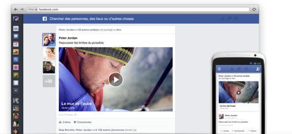 Facebook: un fil d'actualité à la carte et un design qui fait la part belle à