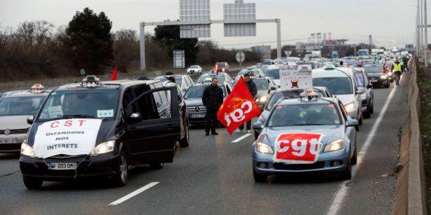 Nouvelle manifestation des taxis contre les