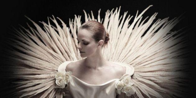 PHOTOS. Robes de mariée: une maison de couture crée ses modèles à partir d'animaux