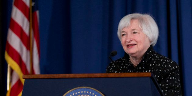 "Federal Reserve Chair Janet Yellen speaks during a conference on ""Monetary Policy Implementation and..."