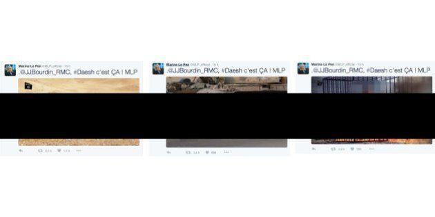 Pourquoi Twitter n'a pas supprimé lui-même les photos de Daech partagées par Marine Le