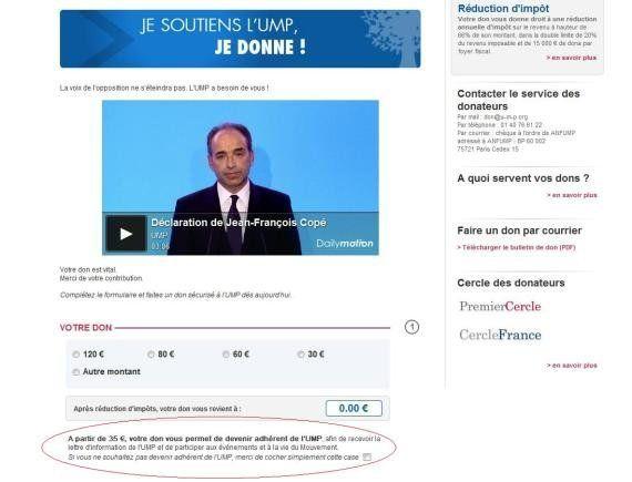 VIDEO. Souscription UMP: Jean-François Copé annonce 7 millions d'euros récoltés et 40.000 nouveaux
