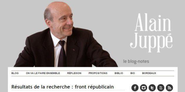 Front républicain: Alain Juppé n'a pas toujours eu une position aussi