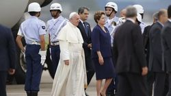 Arrivée mouvementée du pape François à