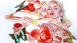 Des peintures de bacon. Pas le peintre, la