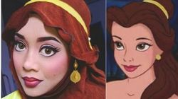 Elle se transforme en princesses Disney avec son