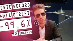 Perte record à Wall Street: - 99,6% en 3