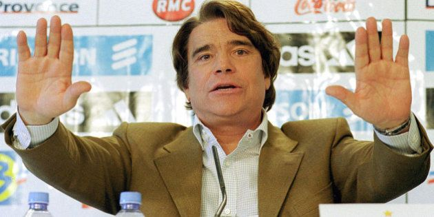 ** FILE ** Former flamboyant businessman and leftist politican Bernard Tapie is seen in Marseille during...