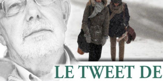 Le tweet de Jean-François Kahn - Inouï, terrifiant : il neige en hiver