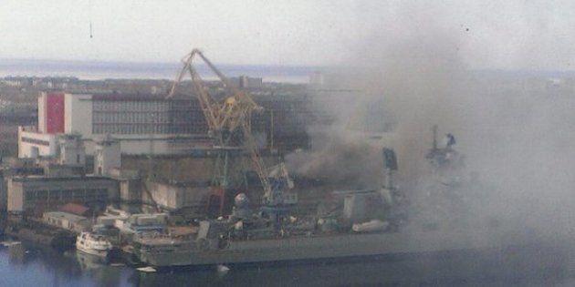 Russie: un sous-marin nucléaire en feu dans le port de
