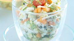 Salade de crabe aux fruits