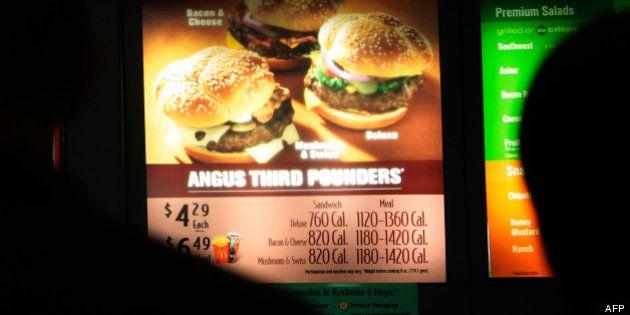 Afficher les calories dans les fast-food n'a pas d'impact sur le choix des