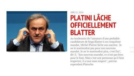 Comment Blatter a entraîné Platini dans sa