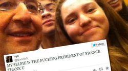 Les selfies de François Hollande aux