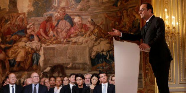 Conférence de presse : Hollande invoque l'esprit du 11 janvier et un peu celui de