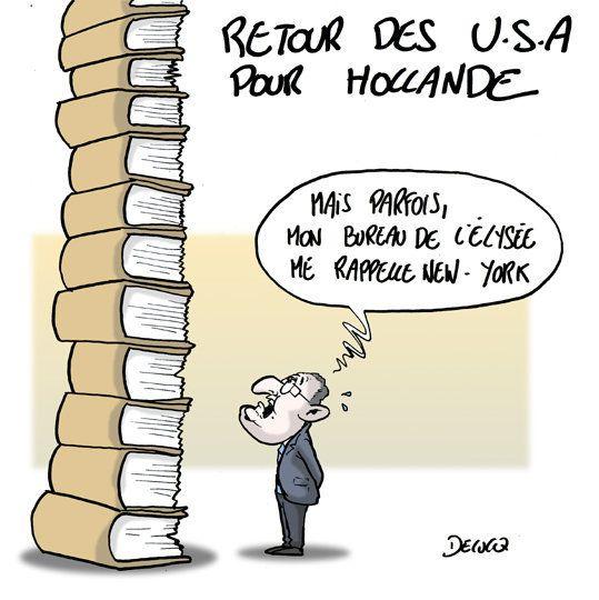 Hollande: fin du voyage américain et retour sur