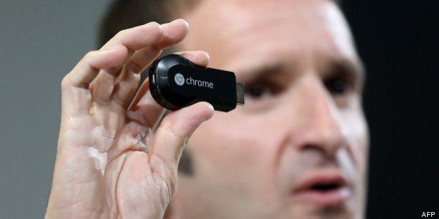 VIDEO. Google lance Chromecast, une clé HDMI pour rediriger des contenus en ligne d'un appareil mobile...