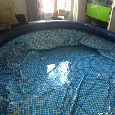 PHOTOS. Il installe une piscine dans son