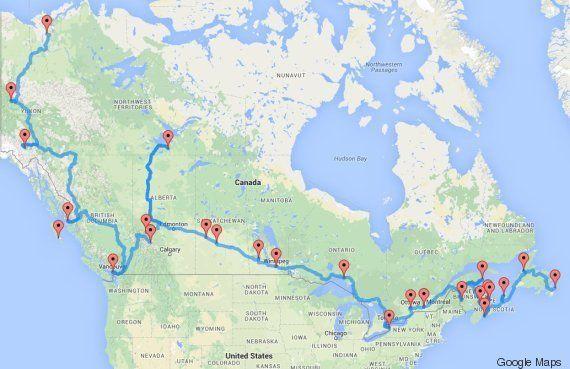 Voyage au Canada : un algorithme établit le