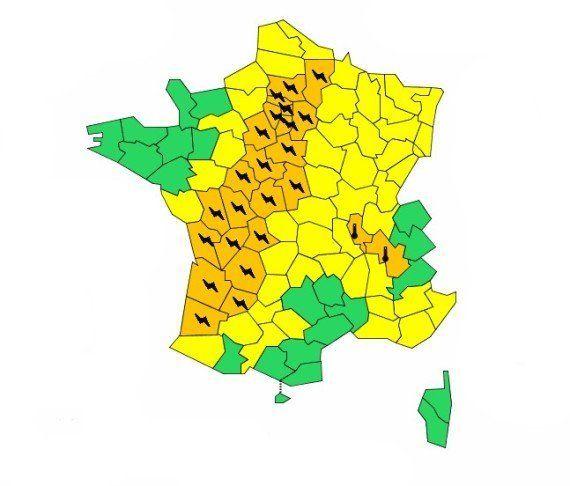 Orages violents, météo: 25 départements placés en alerte