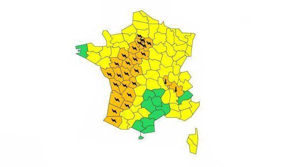 Orages violents, météo: 26 départements placés en alerte