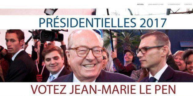 Jean-Marie Le Pen: un faux site internet déclare sa candidature à l'élection présidentielle de