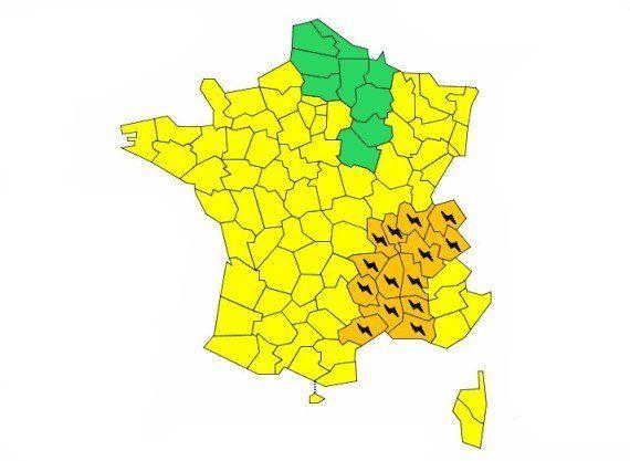Orages violents : 14 départements en vigilance
