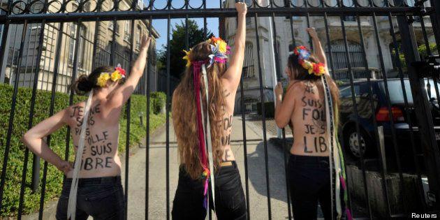 Trois Femen enlevées lors de la visite de Vladimir Poutine à Kiev en