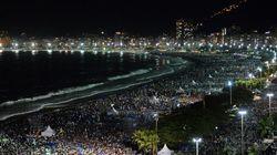 Deux millions de personnes sur la plage de Copacabana avec le