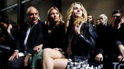 Devinez qui a accompagné Kate Moss au défilé