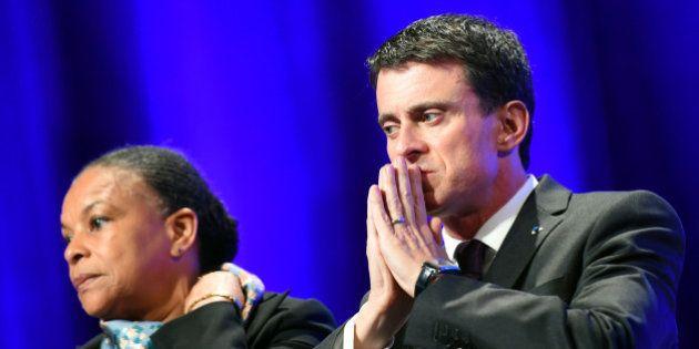 Les appels à la démission de Christiane Taubira se multiplient, Manuel Valls la