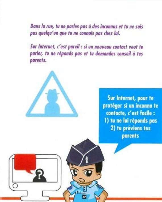 Permis Internet: les élèves de CM2 sensibilisés à l'usage d'Internet par la gendarmerie