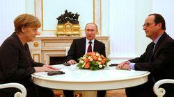 Hollande, Merkel et Poutine d'accord sur un plan de paix (qui reste à