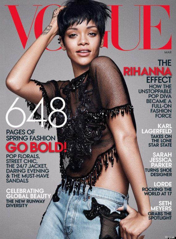 PHOTO. Rihanna en couverture de Vogue: elle explique son utilisation des