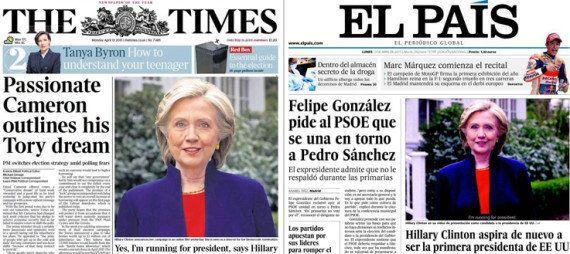 Hillary Clinton candidate pour 2016: La presse et les politiques français saluent l'annonce tant