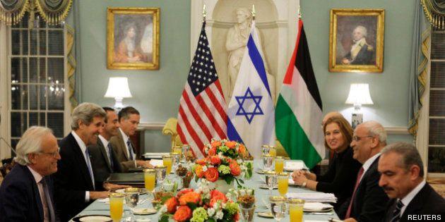 Israéliens et Palestiniens ont repris le dialogue à Washington: les négociations israélo-palestiniennes...