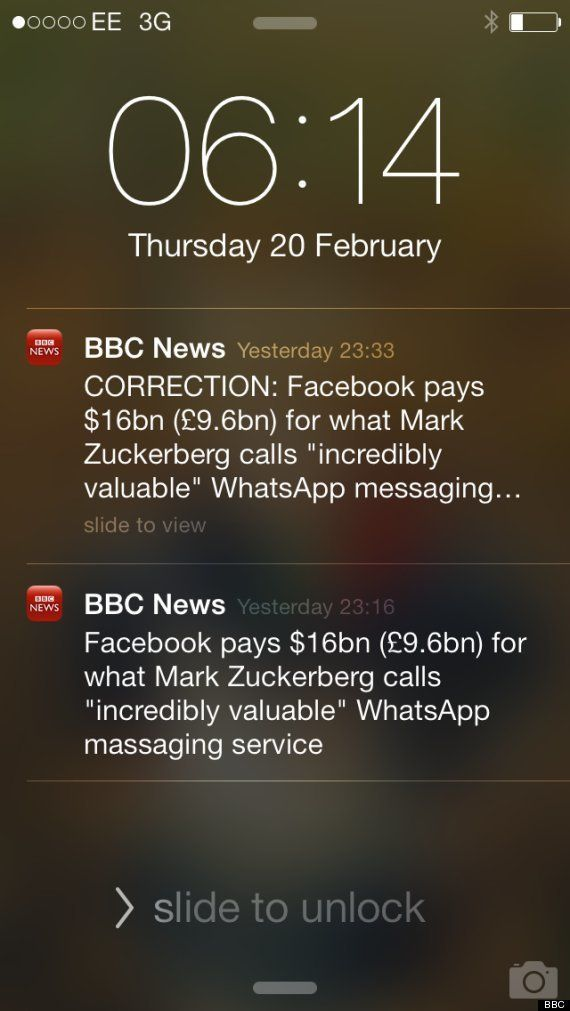 WhatsApp racheté par Facebook: la gaffe de la BBC sur le service de