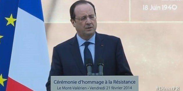 Hollande fait l'éloge de la Résistance et fait entrer quatre membres au Panthéon en