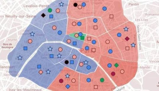 CARTE - Municipales à Paris: la bataille des arrondissements à